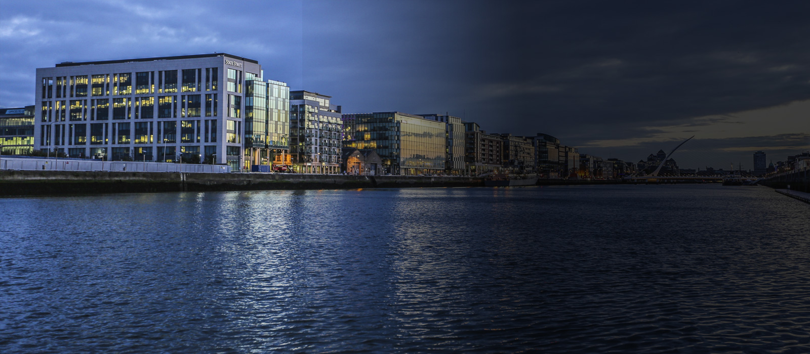 Dublin Docklands from the Bridge Banner